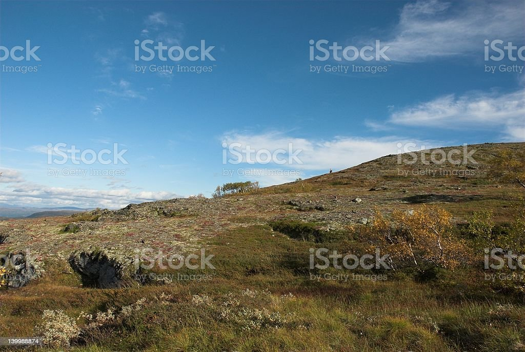 Mountain landscape in autumn royalty-free stock photo