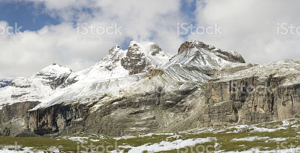 Mountain landscape in Dolomiti stock photo