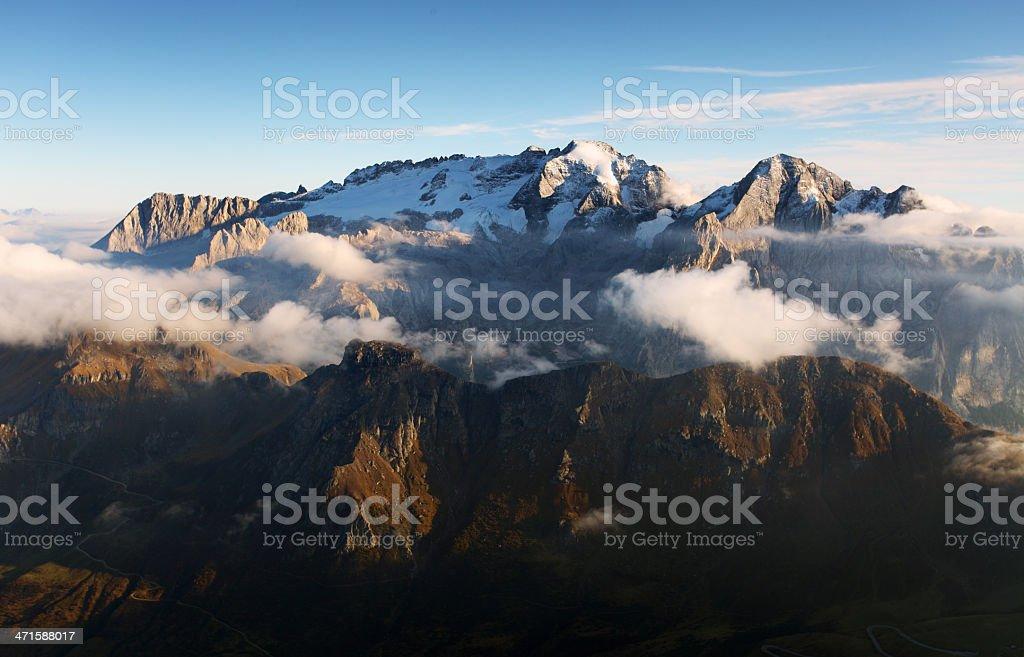 Mountain landscape in Italy - Marmolada stock photo