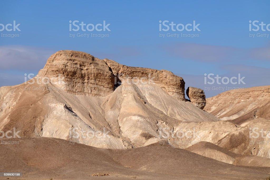 Mountain landscape in Judea Desert. stock photo