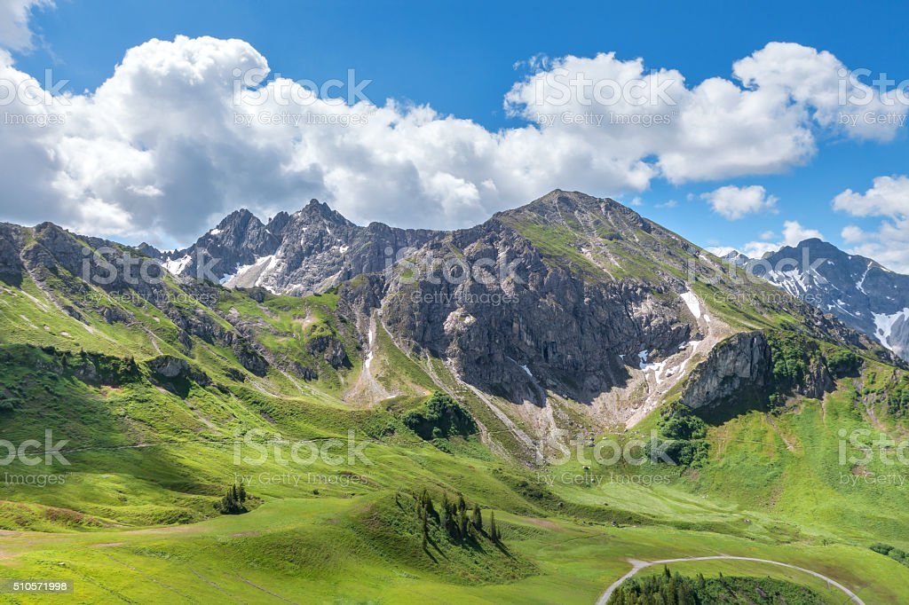 Mountain landscape in summer stock photo