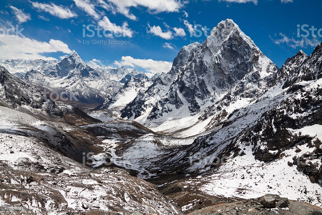 Mountain landscape in sunny day stock photo