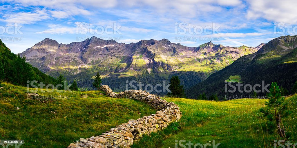 Mountain Landscape in the European Alps stock photo