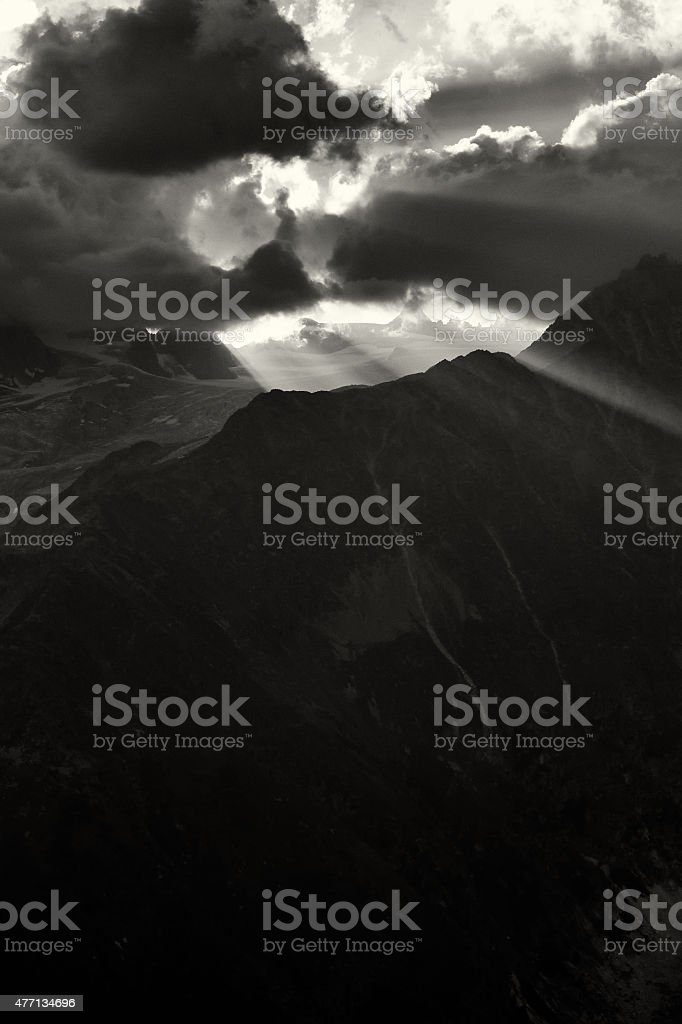 Mountain Landscape in the French Alps stock photo