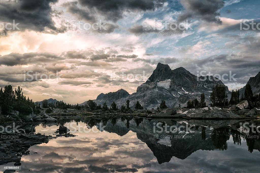 Mountain landscape in the High Sierra stock photo