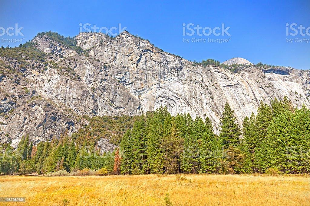 Mountain landscape in Yosemite National Park, USA stock photo