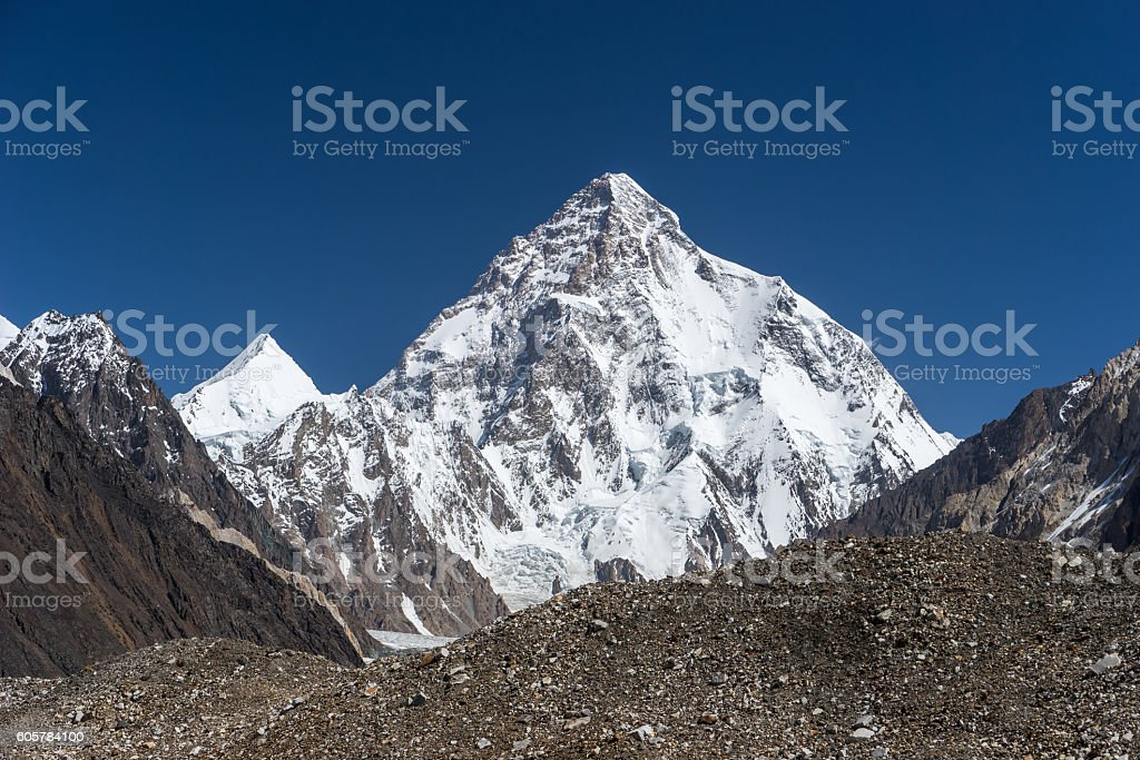 K2 mountain landscape, K2trek stock photo