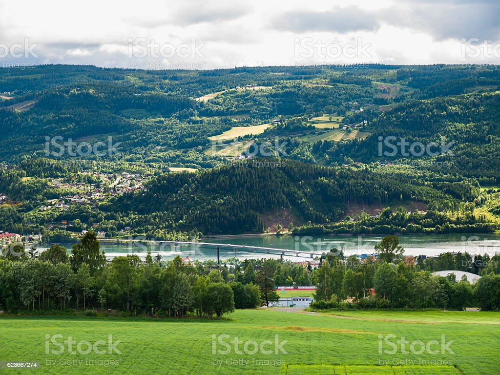 Mountain landscape, Norway stock photo