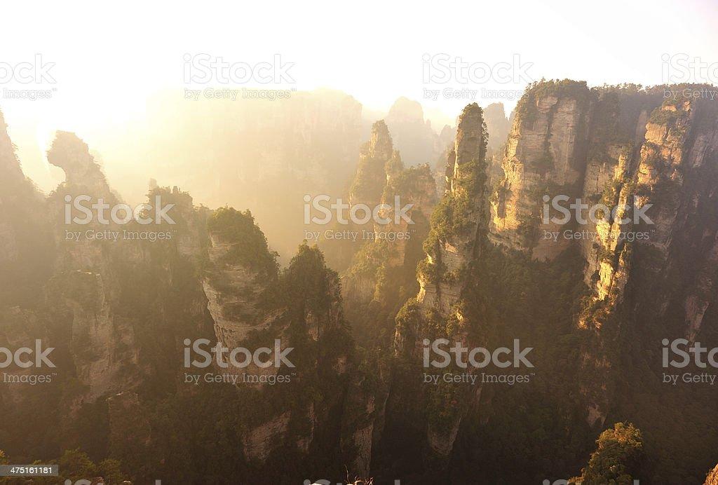 mountain landscape of zhangjiajie national park,china stock photo