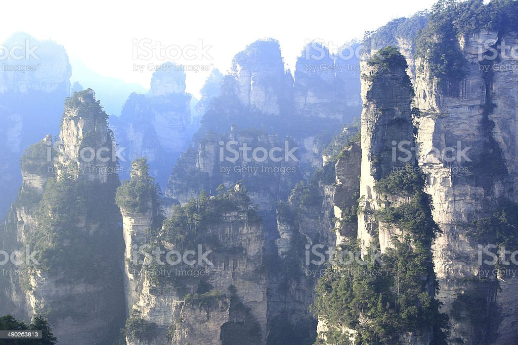 mountain landscape of zhangjiajie national park,china stock photo