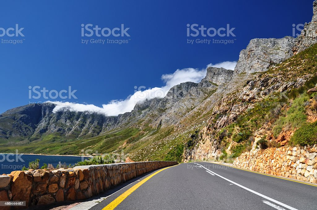 Mountain landscape on Route 44 - Western Cape, South Africa stock photo