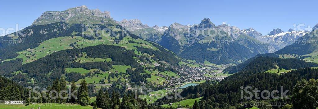 Mountain landscape over Engelberg stock photo