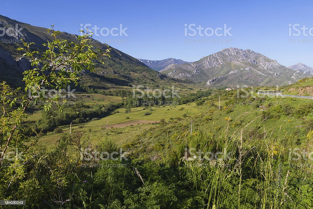 Mountain Landscape - Paisaje de Montaña stock photo