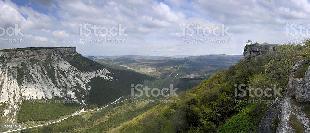 Mountain landscape. Panoramic photo royalty-free stock photo