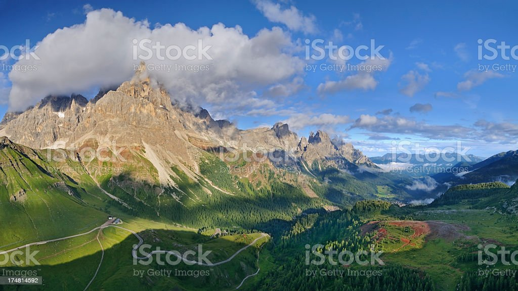 Mountain Landscape (Pale di San Martino - Dolomites, Italy) stock photo