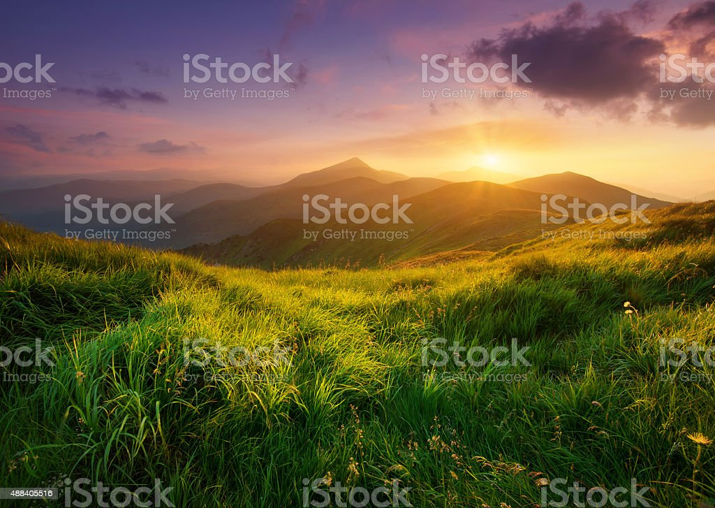 Mountain landscape stock photo