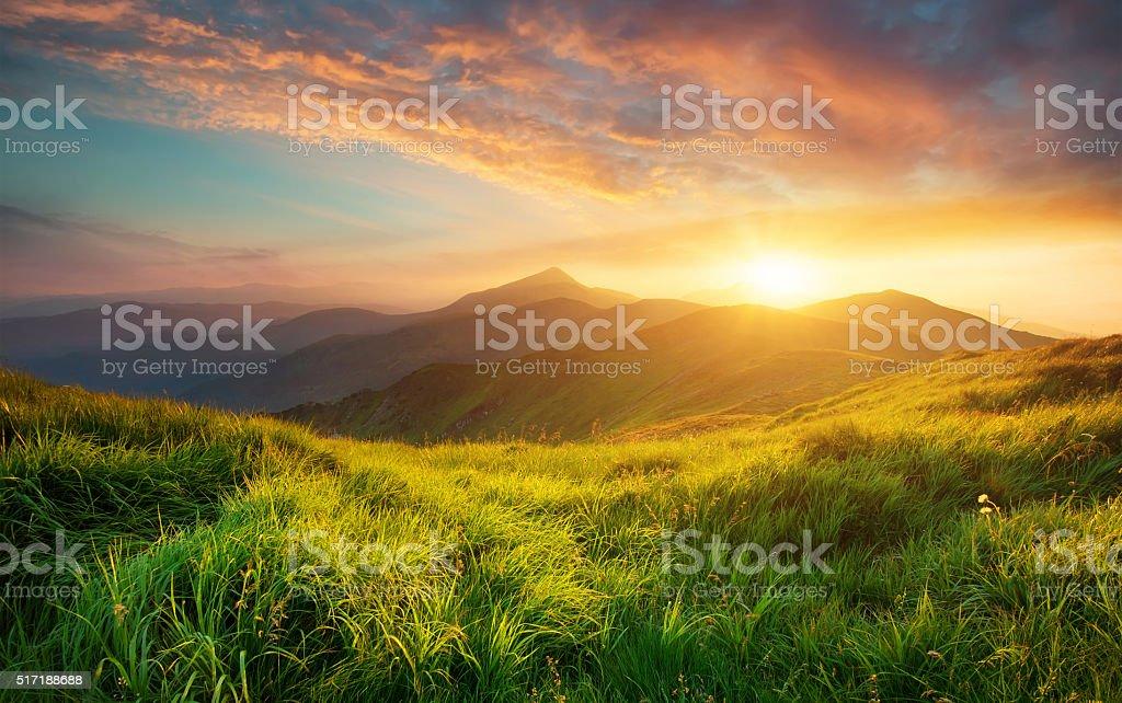 Paisagem de Montanha - fotografia de stock