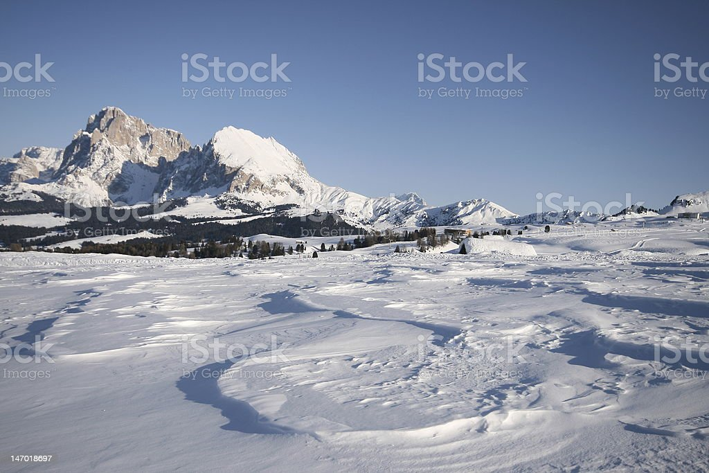 mountain landscape, snow, alps royalty-free stock photo