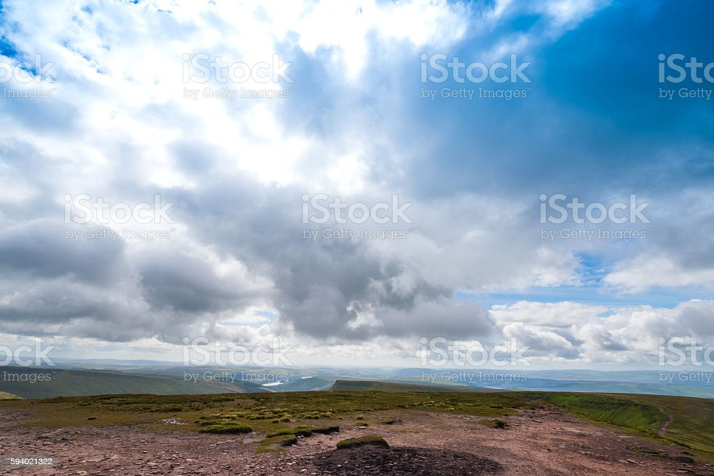 Mountain Landscape, Storey Arms, Brecon Beacons, South Wales, UK stock photo