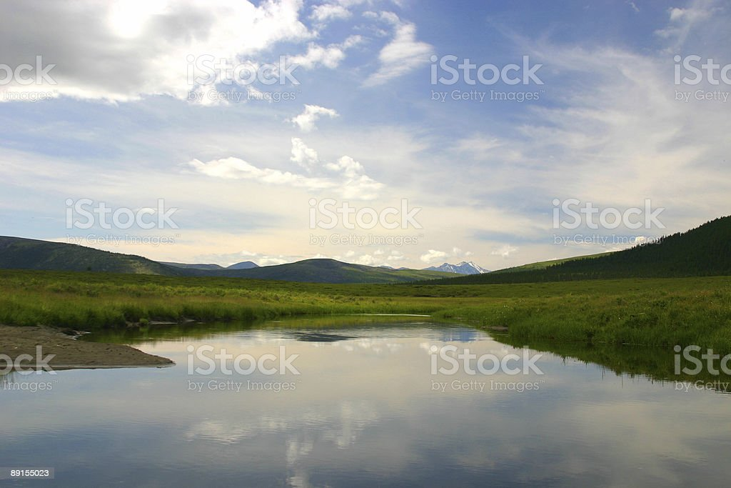 Mountain landscape, summer royalty-free stock photo