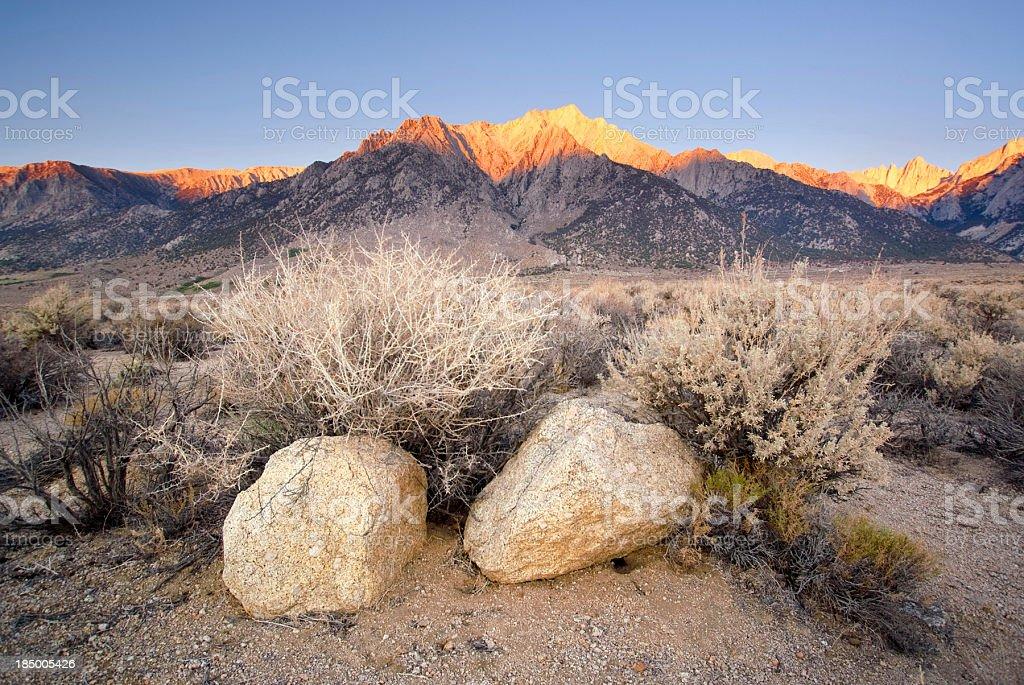 mountain landscape sunrise royalty-free stock photo