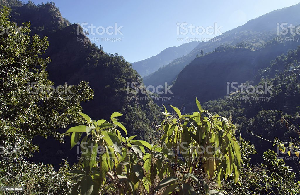 Mountain landscape, the Himalayas royalty-free stock photo