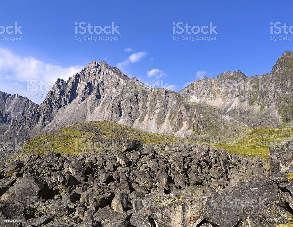 Mountain landscape. Tunka range. Eastern Sayan. Buryatia royalty-free stock photo