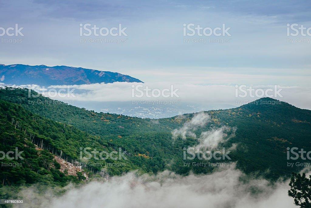 산 풍경과 클라우드 royalty-free 스톡 사진