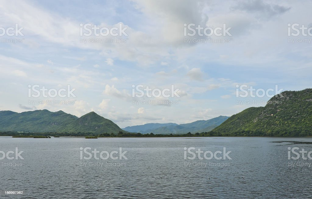 Mountain landscape with lake royalty-free stock photo