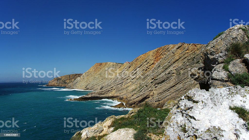 mountain landscape with water royalty-free stock photo