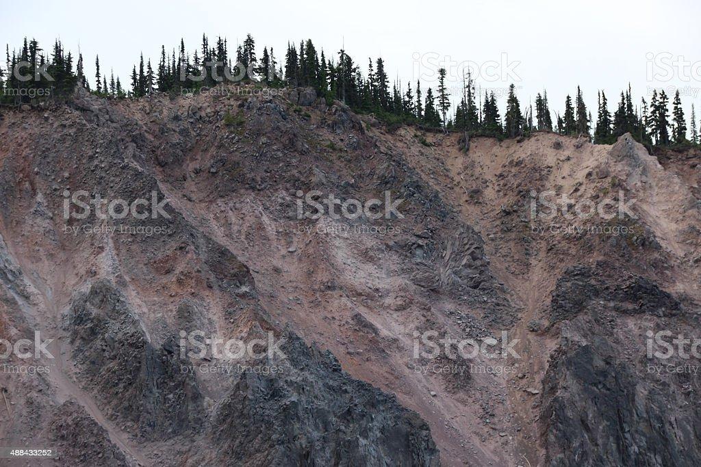 Mountain Landslide stock photo