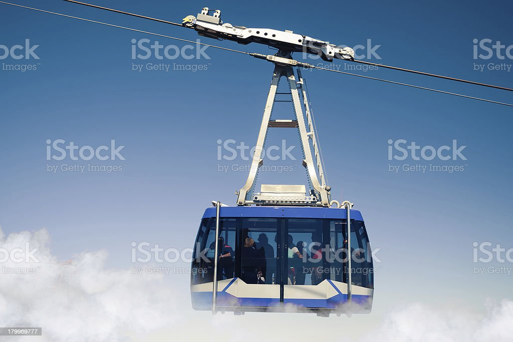 mountain lift (funicular) royalty-free stock photo