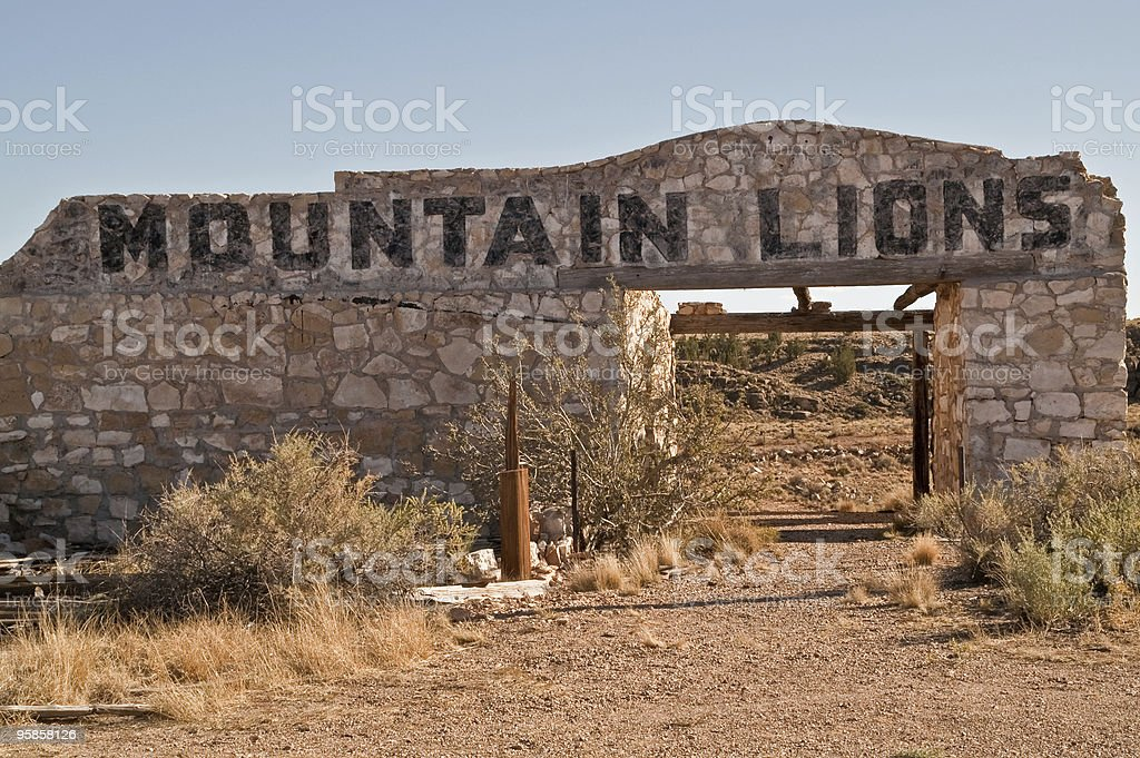 Mountain Lions Sign royalty-free stock photo