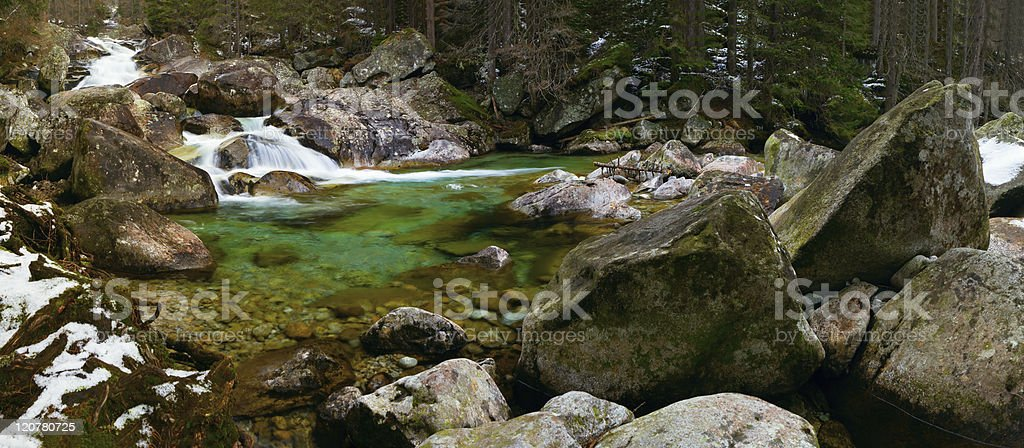 Mountain little river royalty-free stock photo