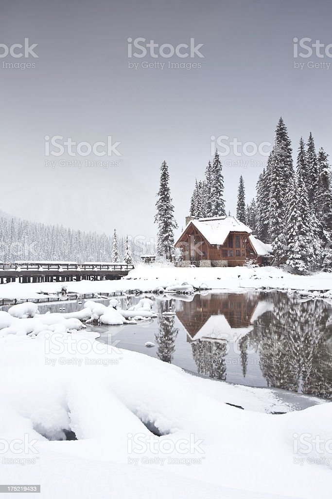 Mountain Lodge in Winter royalty-free stock photo