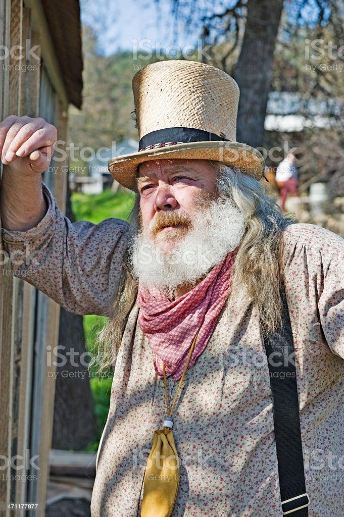 Mountain Man Thinking stock photo