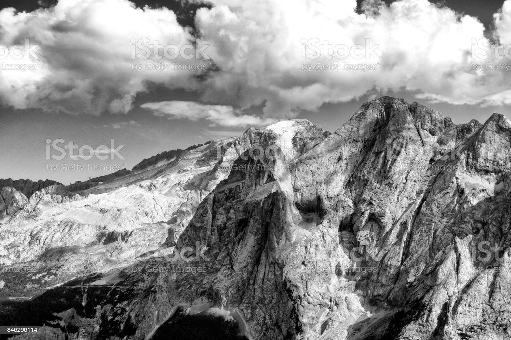 Mountain Marmolada, Dolomites Alps, Italy stock photo