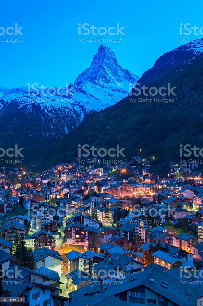 Mountain Matterhorn stock photo