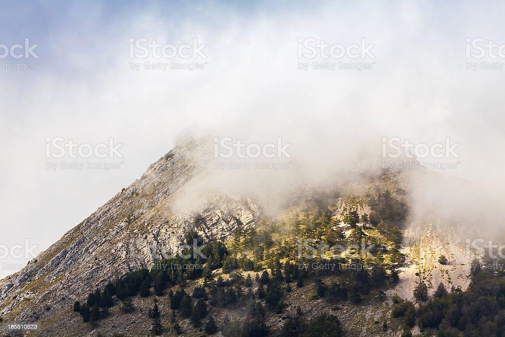 Mountain mist royalty-free stock photo
