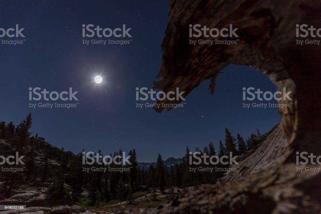 Mountain Moon stock photo