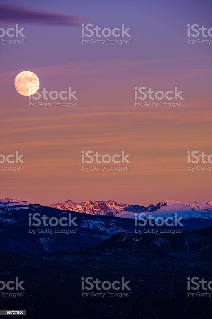 Mountain Moonrise stock photo