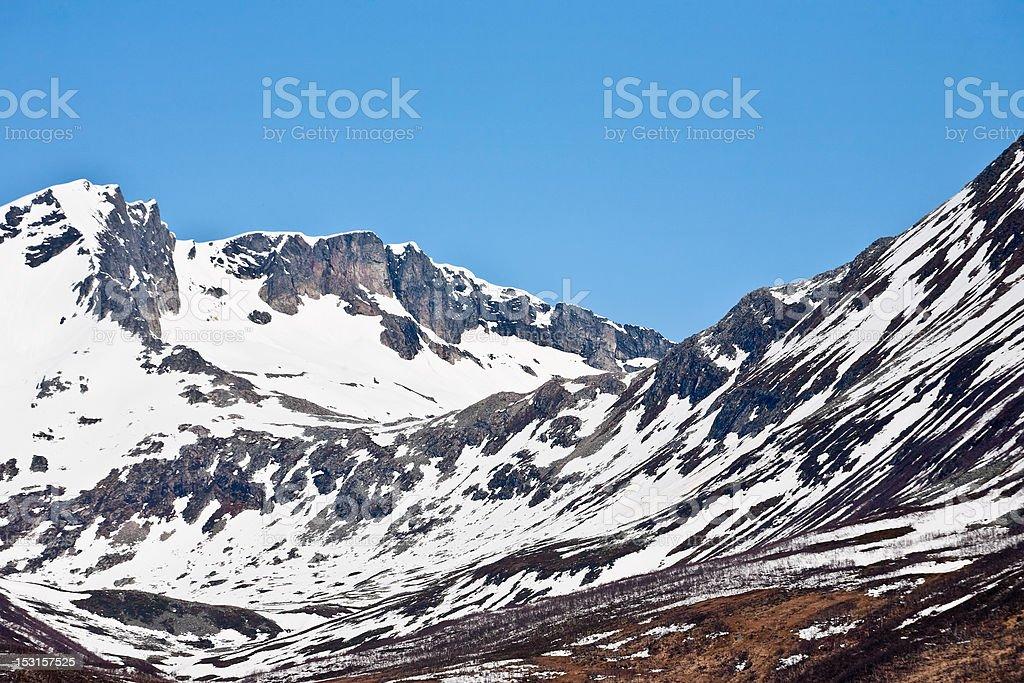 Mountain moraine royalty-free stock photo