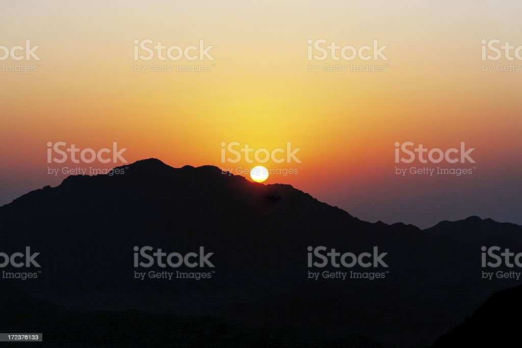 Mountain morning stock photo
