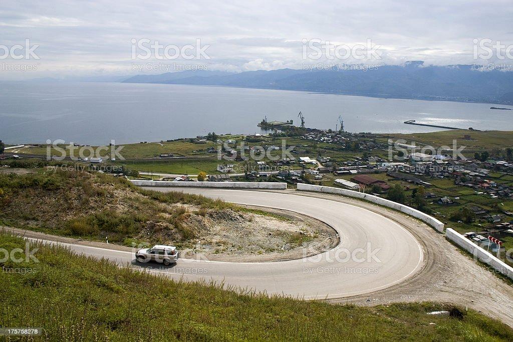 Mountain motorway. royalty-free stock photo