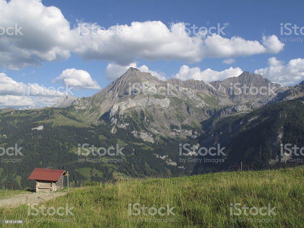 Mountain named Spitzhorn royalty-free stock photo