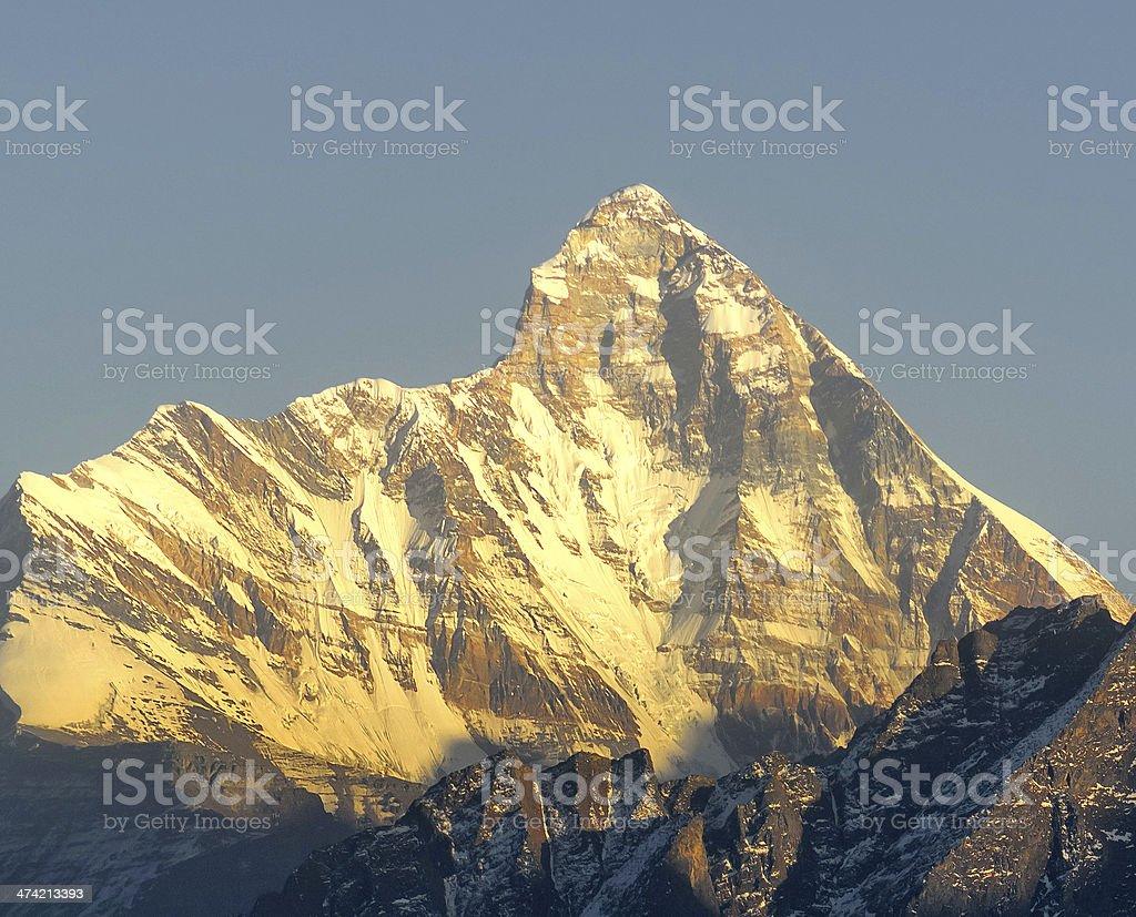 Mountain 'Nanda Devi' royalty-free stock photo