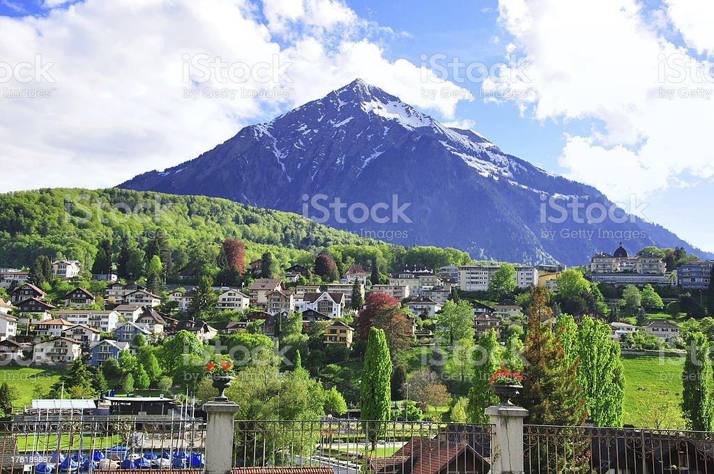 mountain near Spiez, Switzerland royalty-free stock photo
