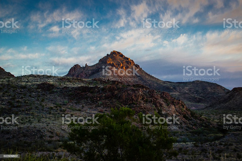 Mountain of Big Bend stock photo