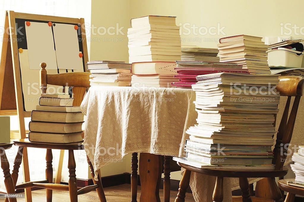 Mountain of Books royalty-free stock photo