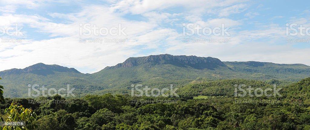 Mountain of Brazilian Savannah stock photo